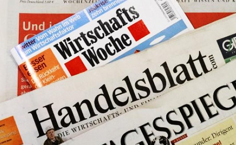 AHLE in Handelsblatt und Wirtschaftswoche