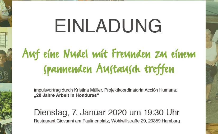 Einladung 20 Jahre Acción Humana am 7. Januar 2020