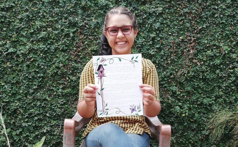 Grußzeilen von Stipendiatin Kassandra